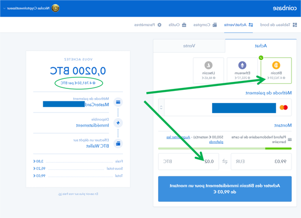 Comment faire un virement sur Coinbase ?