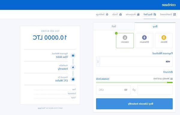 créer un compte sur Coinbase